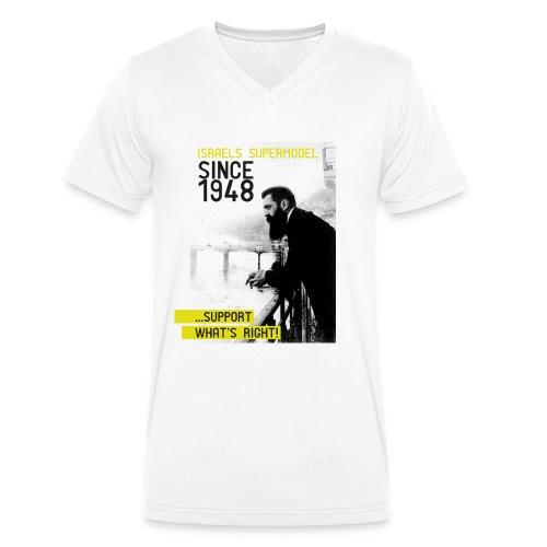 Israel since 1948 | Theodor Herzl - Männer Bio-T-Shirt mit V-Ausschnitt von Stanley & Stella
