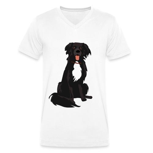 border collie illustratie - Mannen bio T-shirt met V-hals van Stanley & Stella