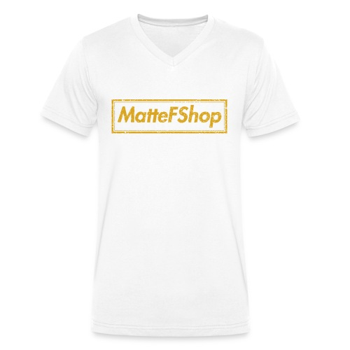 Gold Collection! (MatteFShop Original) - T-shirt ecologica da uomo con scollo a V di Stanley & Stella