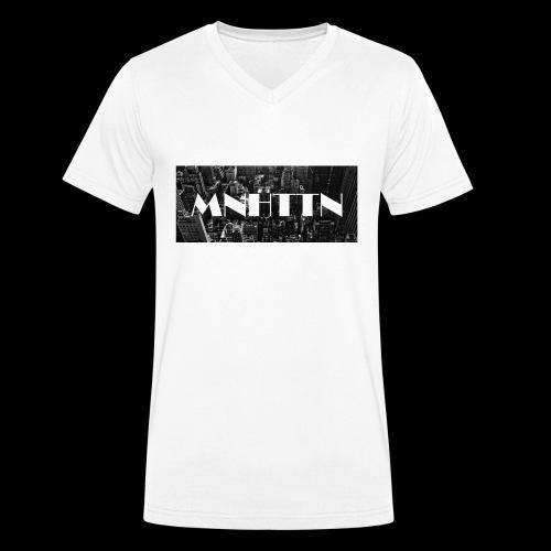 MNHTTN - New York Manhattan Downtown - Männer Bio-T-Shirt mit V-Ausschnitt von Stanley & Stella