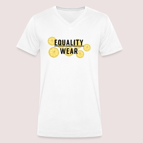 Equality Wear Fresh Lemon Edition - Men's Organic V-Neck T-Shirt by Stanley & Stella
