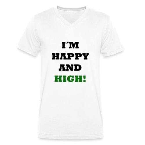I´m happy and high - Männer Bio-T-Shirt mit V-Ausschnitt von Stanley & Stella