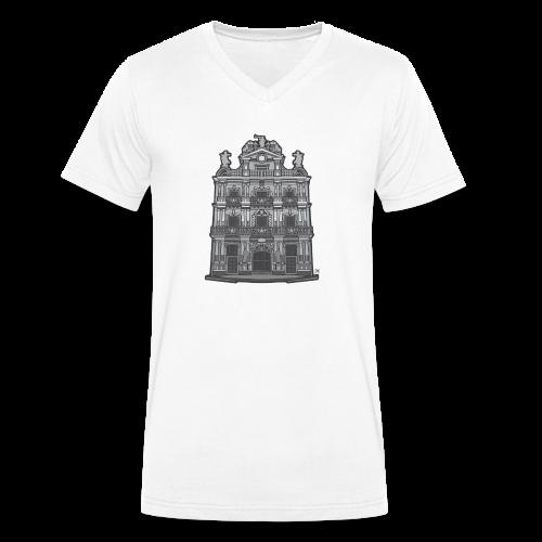 Ayuntamiento de Pamplona/Iruña - Camiseta ecológica hombre con cuello de pico de Stanley & Stella