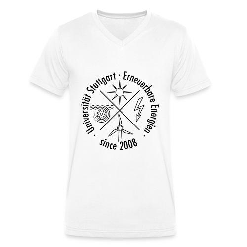 Erneuerbare Energien Schwarz - Männer Bio-T-Shirt mit V-Ausschnitt von Stanley & Stella