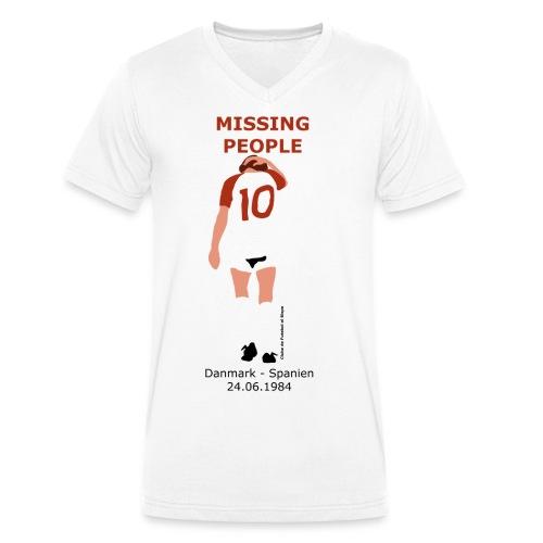 Missing People - Økologisk Stanley & Stella T-shirt med V-udskæring til herrer