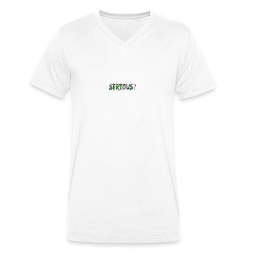 Serious - Männer Bio-T-Shirt mit V-Ausschnitt von Stanley & Stella