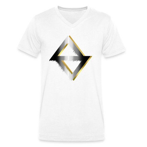 PKC-> Triangel in Silver and Gold - Men's Organic V-Neck T-Shirt by Stanley & Stella