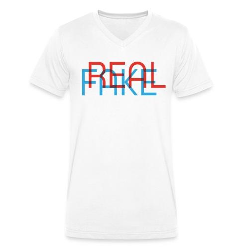 REAL or FAKE? MEN'S EDITION - Männer Bio-T-Shirt mit V-Ausschnitt von Stanley & Stella