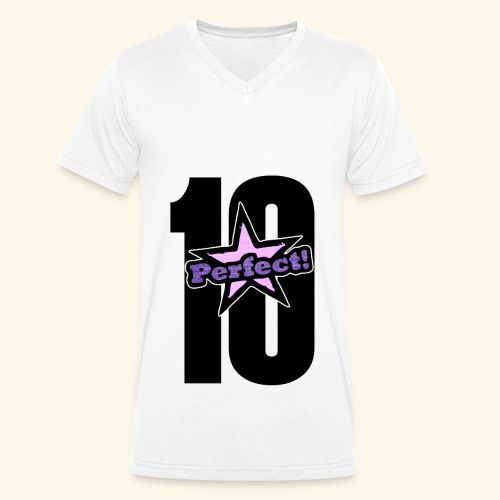 perfect 10 - Men's Organic V-Neck T-Shirt by Stanley & Stella