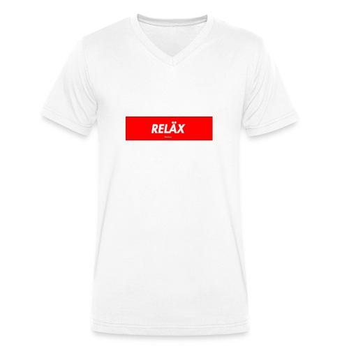 Reläx Logo - Männer Bio-T-Shirt mit V-Ausschnitt von Stanley & Stella