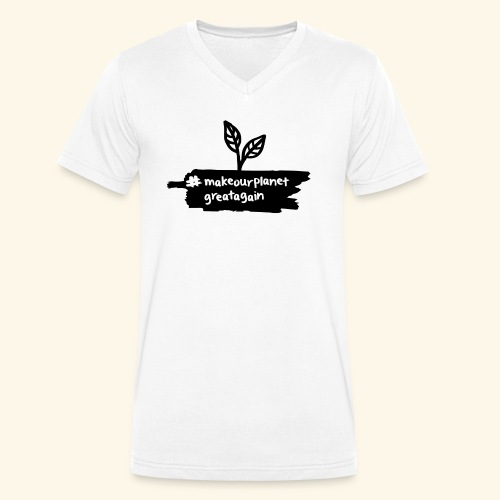makrourplanetgreatagain 02 - Männer Bio-T-Shirt mit V-Ausschnitt von Stanley & Stella