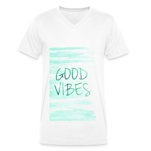 Good Vibes - T-shirt bio col V Stanley & Stella Homme