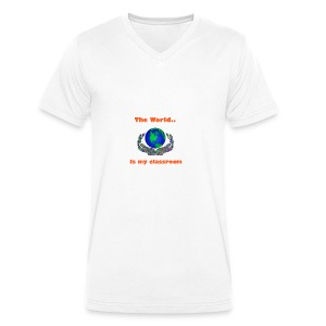 The world is my classroom - Men's Organic V-Neck T-Shirt by Stanley & Stella