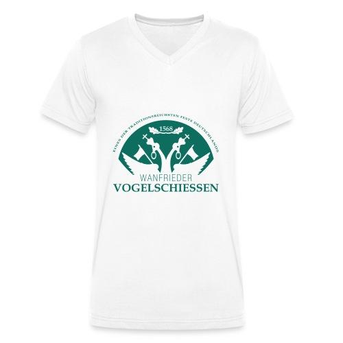 Logo Wanfrieder Vogelschiessen Einfarbig - Männer Bio-T-Shirt mit V-Ausschnitt von Stanley & Stella