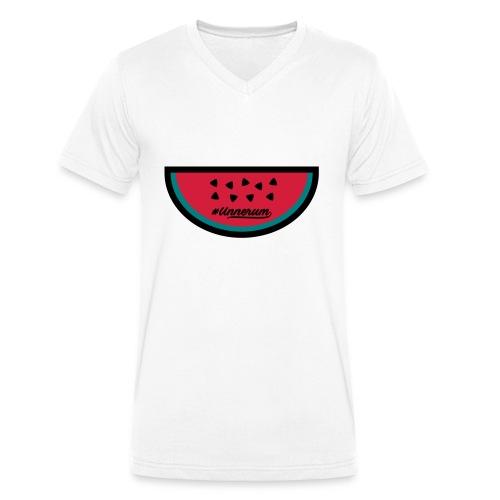 #Unnerum Wassermelone - Männer Bio-T-Shirt mit V-Ausschnitt von Stanley & Stella