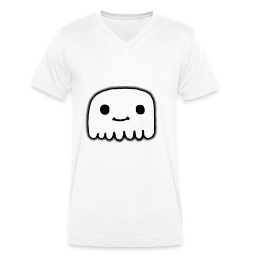 GhostCloth schlichter Geist - Männer Bio-T-Shirt mit V-Ausschnitt von Stanley & Stella