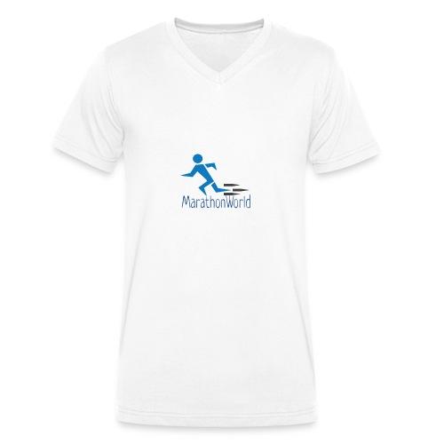 MarathonWorld - T-shirt ecologica da uomo con scollo a V di Stanley & Stella