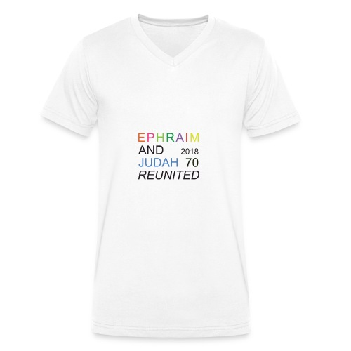 EPHRAIM AND JUDAH Reunited 2018 - 70 - Mannen bio T-shirt met V-hals van Stanley & Stella