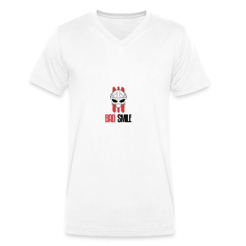 BadSmile - Männer Bio-T-Shirt mit V-Ausschnitt von Stanley & Stella