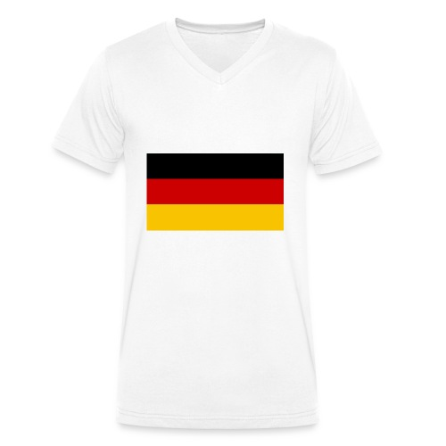 deutscheflagge001 1366x768 - Männer Bio-T-Shirt mit V-Ausschnitt von Stanley & Stella