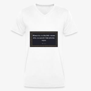 Zitat Albert Einstein - Männer Bio-T-Shirt mit V-Ausschnitt von Stanley & Stella