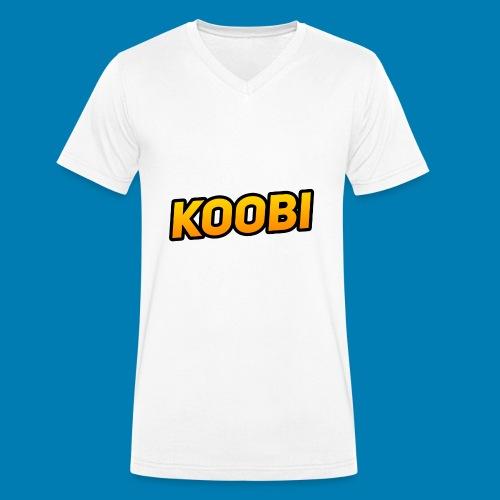 KOOBI Schriftzug - Männer Bio-T-Shirt mit V-Ausschnitt von Stanley & Stella