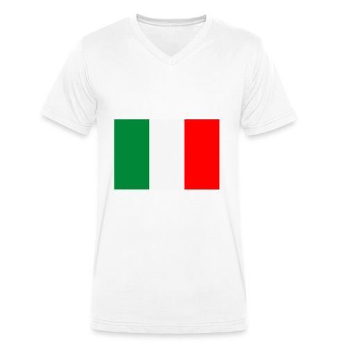 bandieraITA - T-shirt ecologica da uomo con scollo a V di Stanley & Stella