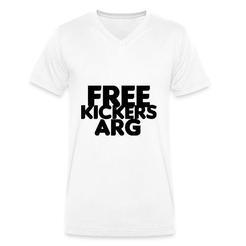 T SHIRT FREEKICKERSARG - Camiseta ecológica hombre con cuello de pico de Stanley & Stella