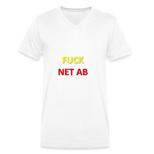 FUCK NET AB - Männer Bio-T-Shirt mit V-Ausschnitt von Stanley & Stella