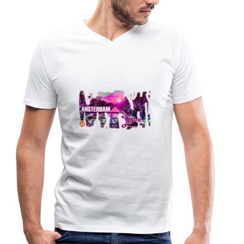 amsterdam love - Mannen bio T-shirt met V-hals van Stanley & Stella