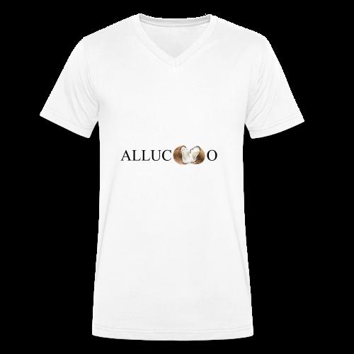 Allucoco blanco - Camiseta ecológica hombre con cuello de pico de Stanley & Stella