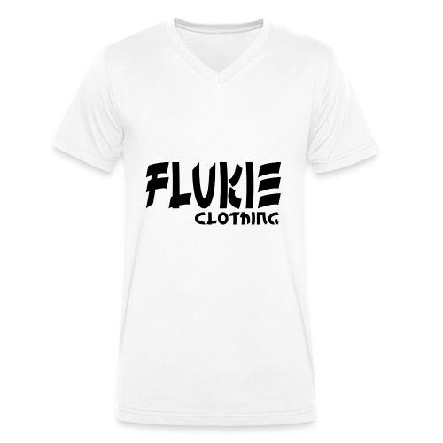 Flukie Clothing Japan Sharp Style - Men's Organic V-Neck T-Shirt by Stanley & Stella