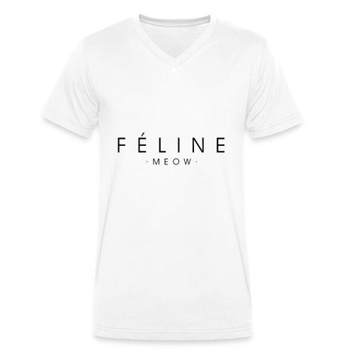 Féline - Camiseta ecológica hombre con cuello de pico de Stanley & Stella