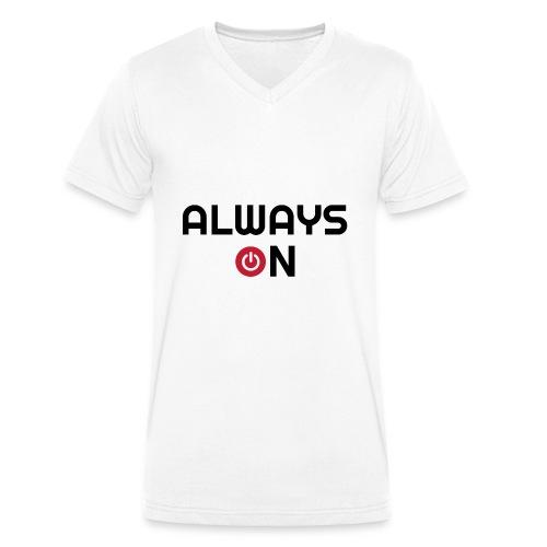 Always On - Mannen bio T-shirt met V-hals van Stanley & Stella
