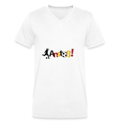 Anstoß - Männer Bio-T-Shirt mit V-Ausschnitt von Stanley & Stella