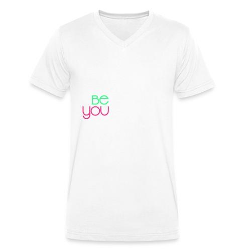 be you - T-shirt ecologica da uomo con scollo a V di Stanley & Stella