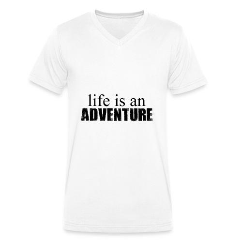 life is an ADVENTURE - Männer Bio-T-Shirt mit V-Ausschnitt von Stanley & Stella
