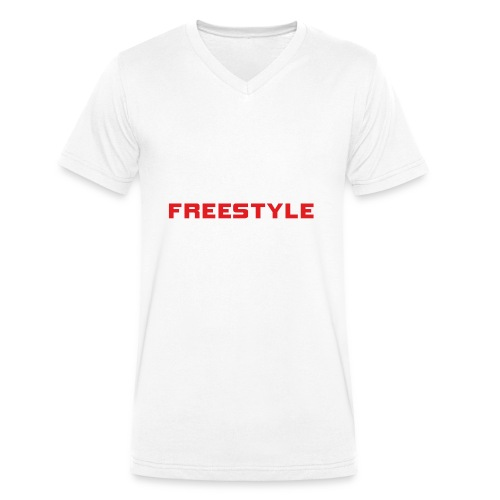 LOGO FREESTYLE RED - T-shirt bio col V Stanley & Stella Homme