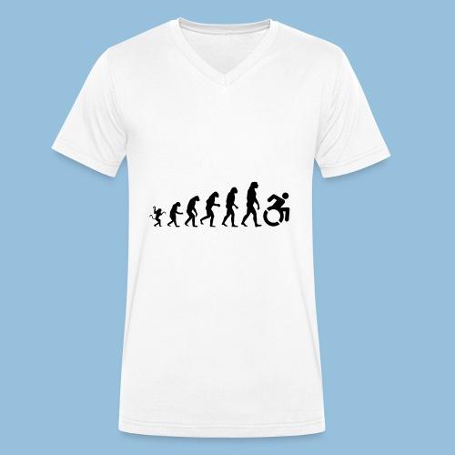 EvolutionWheelchair - Mannen bio T-shirt met V-hals van Stanley & Stella