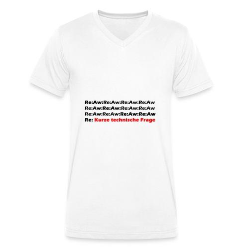 Re Aw Kurze technische Frage - Männer Bio-T-Shirt mit V-Ausschnitt von Stanley & Stella