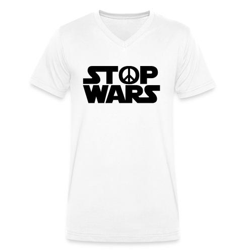 Stop Wars - T-shirt bio col V Stanley & Stella Homme