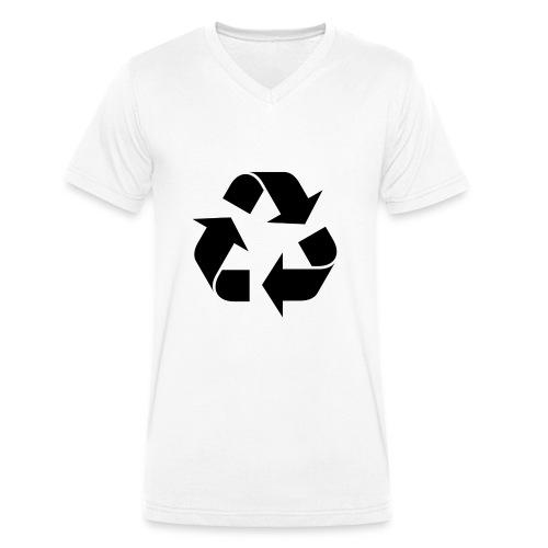 maglia ciclo di vita - T-shirt ecologica da uomo con scollo a V di Stanley & Stella