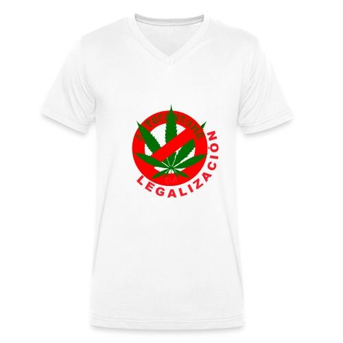shirt LEGALIZACION DESPEJARTE - Camiseta ecológica hombre con cuello de pico de Stanley & Stella