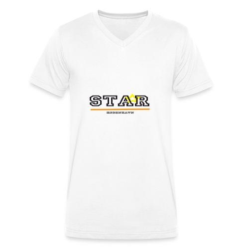 Star - København T-shirt - Økologisk Stanley & Stella T-shirt med V-udskæring til herrer