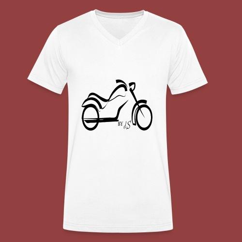 moto - Camiseta ecológica hombre con cuello de pico de Stanley & Stella