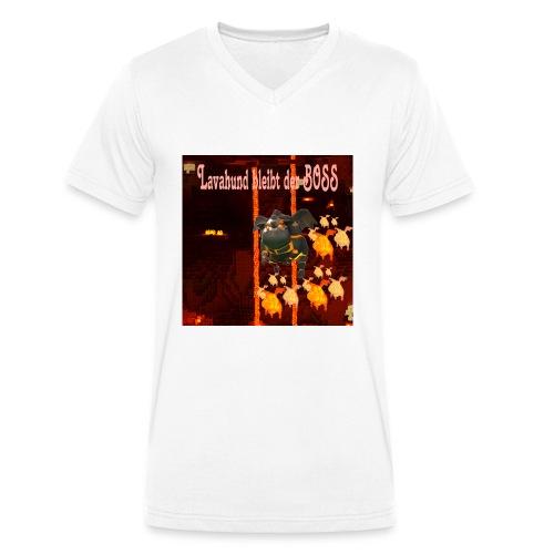 Lavahund der Boss - Männer Bio-T-Shirt mit V-Ausschnitt von Stanley & Stella