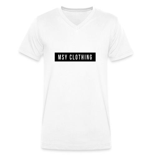MSY Clothing Design - Männer Bio-T-Shirt mit V-Ausschnitt von Stanley & Stella
