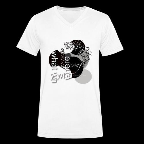 creativ prozess - Männer Bio-T-Shirt mit V-Ausschnitt von Stanley & Stella