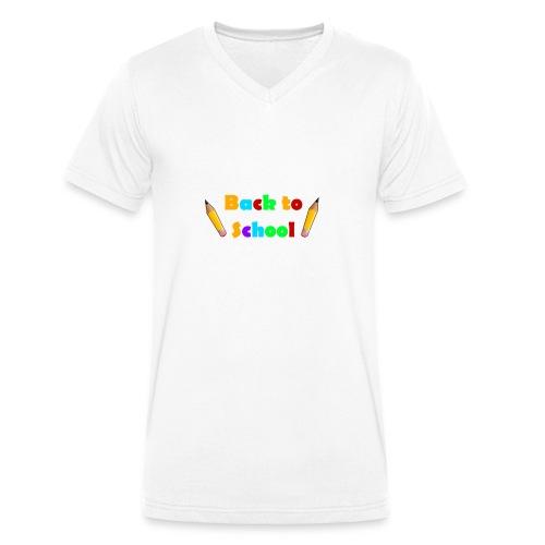 schulbeginn - Männer Bio-T-Shirt mit V-Ausschnitt von Stanley & Stella