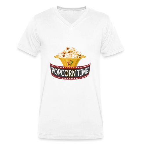 Popcorn Time - Mannen bio T-shirt met V-hals van Stanley & Stella